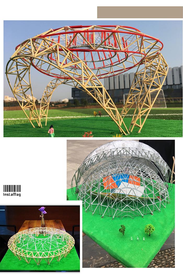 比赛是参赛者根据赛事规定的材料制设计制作桥梁模型自己设计桥梁模型
